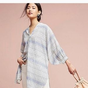 Maeve/ Anthropologie Button Up Tunic Top